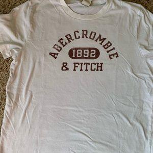 Men's Abercrombie white t-shirt
